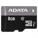 Flash-накопитель ADATA microSDHC UHS-I CLASS10, Retail w/1 adapter, 8 Gb
