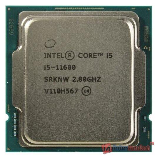 Процессор  Intel Core i5-11600 2,8GHz (4,8GHz) 12Mb 6/12 Rocket Lake Intel® UHD 750 65W FCLGA1200 Tray