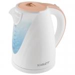 Электрический чайник Scarlett SC-EK18P43, бело-бежевый