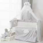 Комплект в кроватку Perina Бамбино 4 предмета Грей