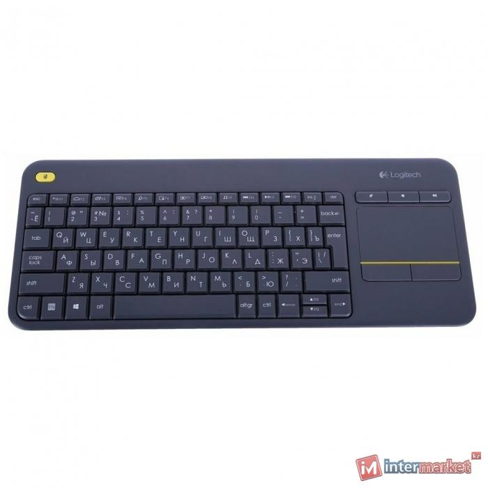 Клавиатура L920-007147 LOGITECH Wireless Touch Keyboard K400 Plus - INTNL - Russian layout - Dark