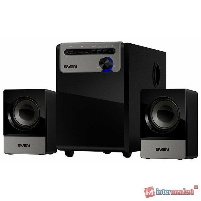 Компьютерная акустика SVEN Колонки MS-110, черный /
