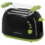 Тостер POLARIS PET 0706 LB (черный-зеленый)